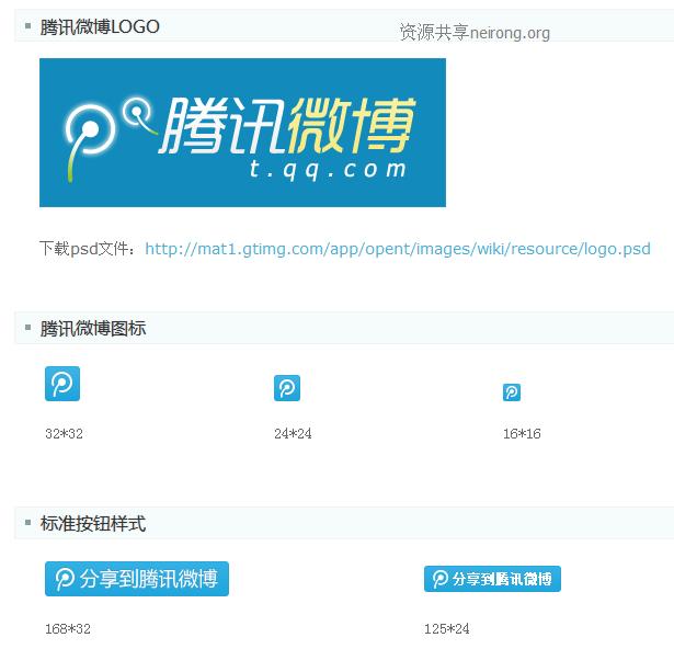 新浪微博图标和腾讯微博图标视觉素材下载地址