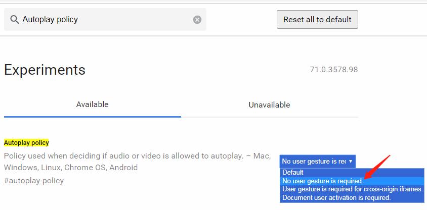 chrome浏览器怎么支持audio和video标签的autoplay自动播放